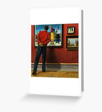In the Red - oil painting Greeting Card