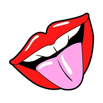 Open mouth with tongue. Pop art comic. by ivector