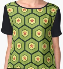 honeycomb (green) Chiffon Top