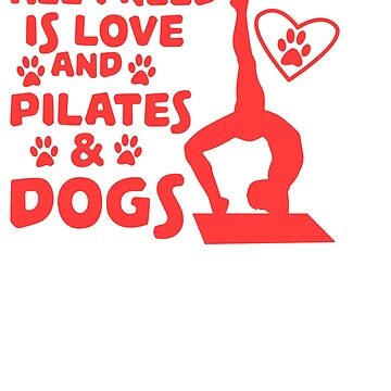 Love of dogs and yoga T-shirt Design by Customdesign200