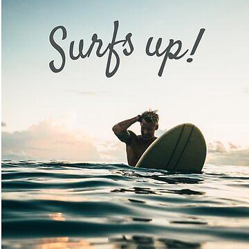 Surfs Up Handsome Surfer Dude by IKOK