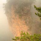 Heaven Pillar in the fog by Michael Matthews