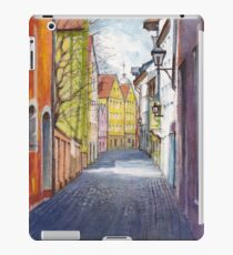 Narrow alley in Regensburg, Germany iPad Case/Skin
