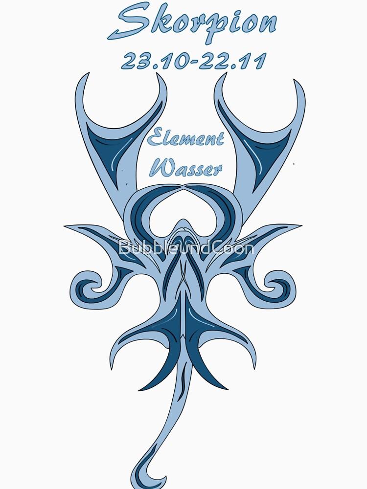 Sternzeichen Skorpion von BubbleundCoon