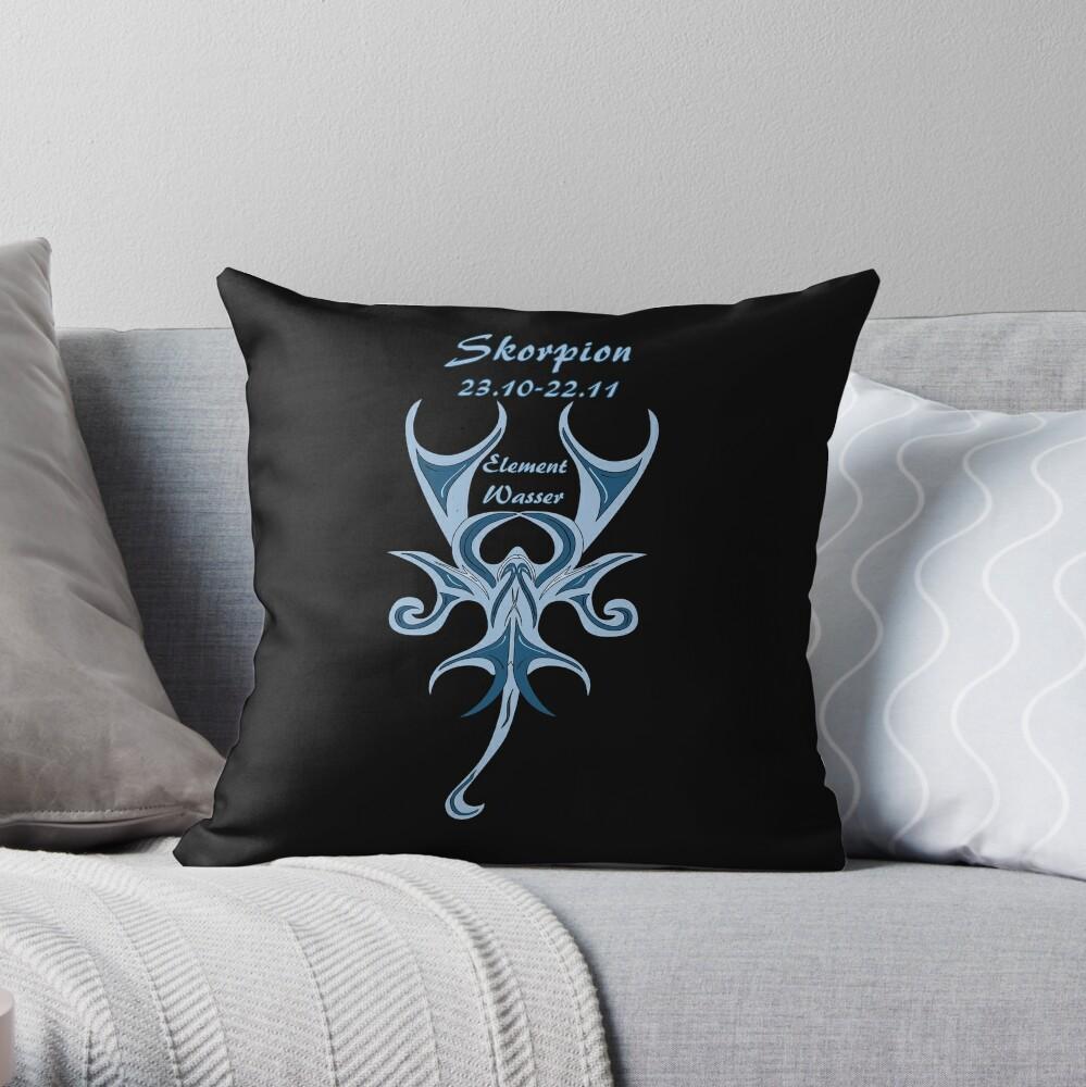 Sternzeichen Skorpion Dekokissen
