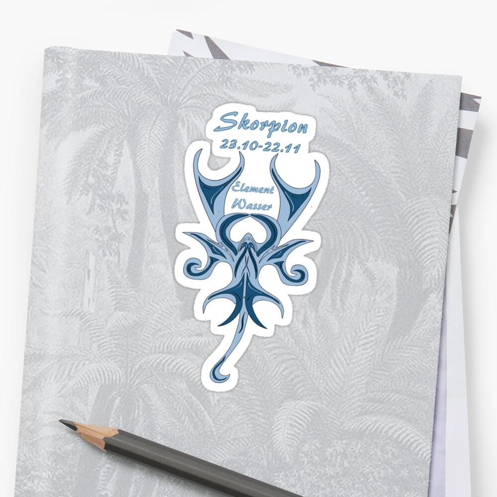 Sternzeichen Skorpion Sticker