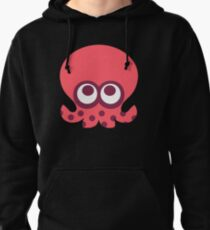 octoling octopus (pink) Pullover Hoodie