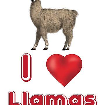 I Love Llamas by Mill8ion