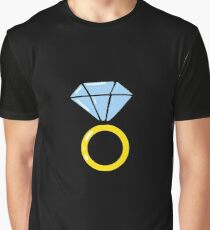 Wedding diamond ring. Briliant icons. Jewelry. Graphic T-Shirt