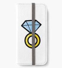 Wedding diamond ring. Briliant icons. Jewelry. iPhone Wallet/Case/Skin