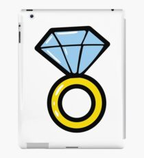 Wedding diamond ring. Briliant icons. Jewelry. iPad Case/Skin