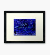 Blunt Fish Blue Framed Print