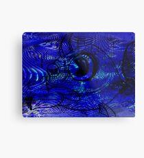 Blunt Fish Blue Metal Print