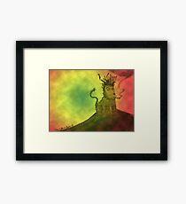 Rasta Lion Framed Print