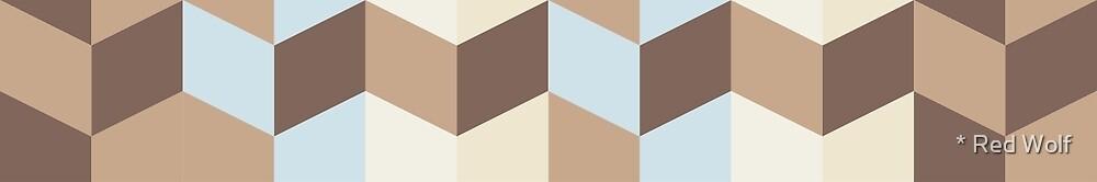 Geometric Pattern: Chevron: Mesa by * Red Wolf