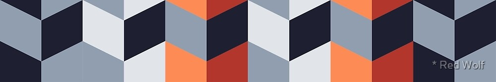 Geometric Pattern: Chevron: Flutter by * Red Wolf
