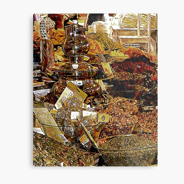Exotic Teas And Dried Fruits Metal Print