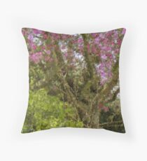 Blooming Appletree Throw Pillow