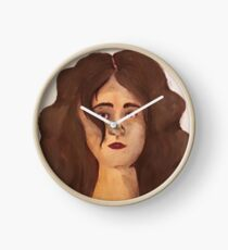 Female Face Clock