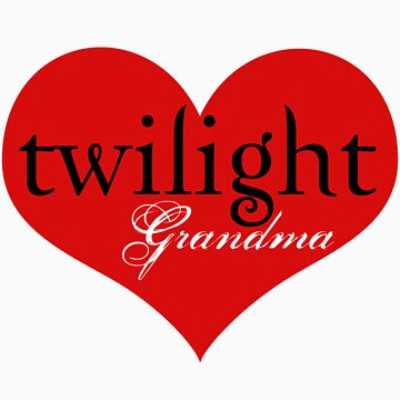 Twilight Heart Grandma T-Shirt by fifilaroach