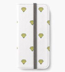 Geometric pattern with linear diamonds iPhone Wallet/Case/Skin