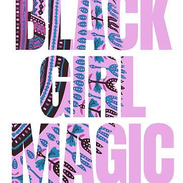 Black girl magic Dashiki pattern by Scoopivich