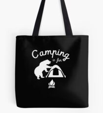 Funny Bear Graphic - Nature Adventurer Merch for Camping, Hiking Lovers Tote Bag