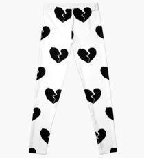 XXXTENTACION Broken Heart Pattern Leggings