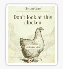 Don't Look At This Chicken Sticker