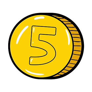 Gold Coin Icon. Pop art. by ivector