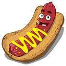 Hot Diggity Dog - with Mustard by deancoledesign