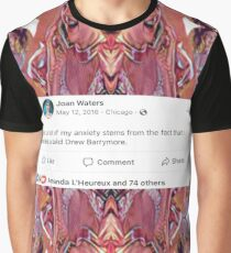 Bald Drew Barrymore Graphic T-Shirt