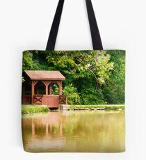 Brookside Bridge Tote Bag