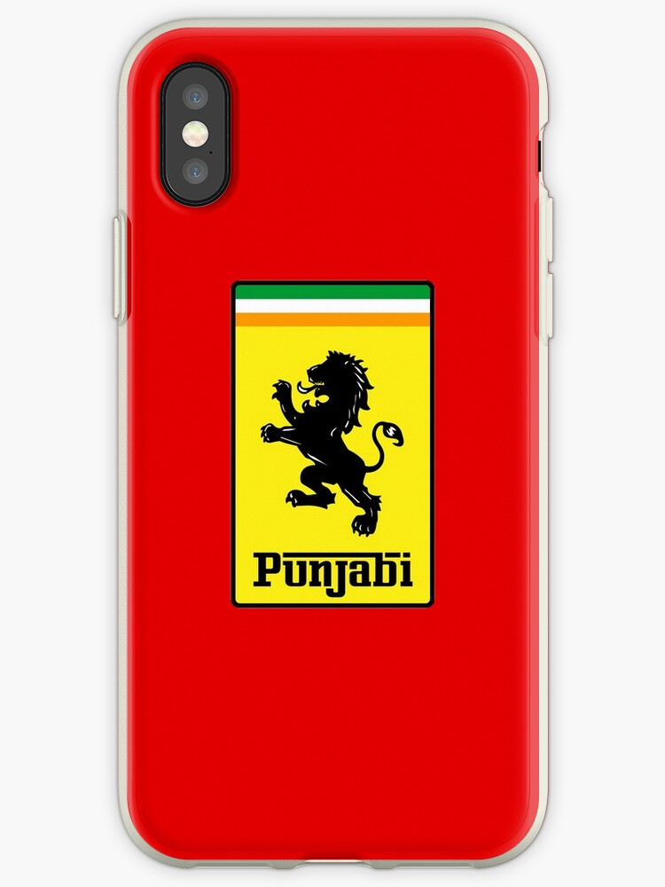 Punjabi Fast Super Car Driving Motor Gear Head Logo Parody Lion Flag Punjab India Indian Desi T Shirt Iphone Case By Prezziefactory