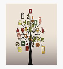 Communication- Internet Media/Social Media Photographic Print