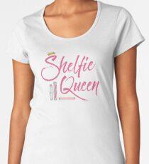 Booklover Shelfie Queen Women's Premium T-Shirt