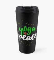 Yoga es paz Travel Mug