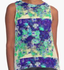 Green Blue Floral Sleeveless Top
