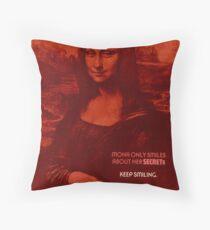 NSA Poster: Mona Lisa's Secrets Floor Pillow