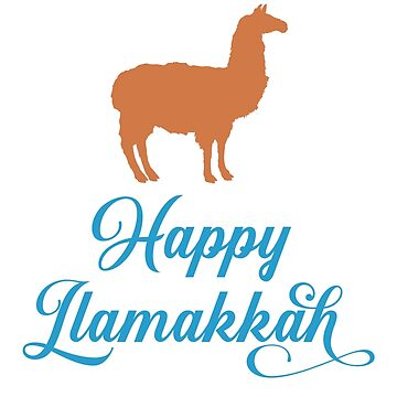 Happy Lamakkah - Sweet Jewish Llama by WigOutlet