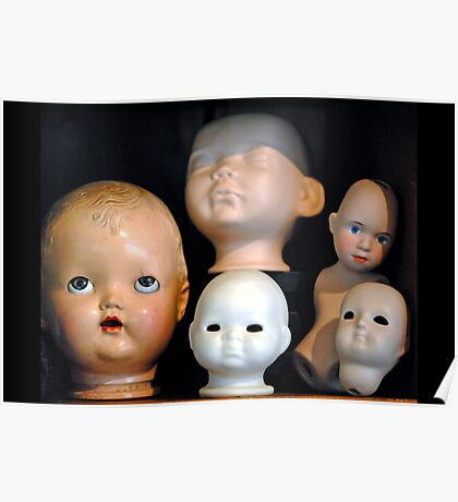 Doll Heads (horizontal) Poster