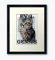 Evil Genius - The Cat Framed Print
