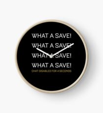 What A Save Chat Disabled Funny Gift For Rocket Gamers Clock
