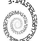 PI Spiral 004 Sticker by Rupert Russell