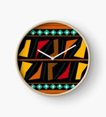 Colorful African Print  Clock