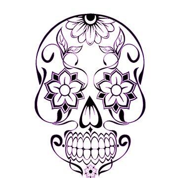 purple Vector Skull by MeshalOH