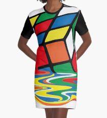 Rubik Cube Melted t Shirt, Original Gift Idea Graphic T-Shirt Dress