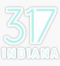 INDIANA 317 • ROBIN BLUE Sticker