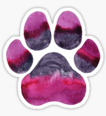Purple Paw Print Sticker