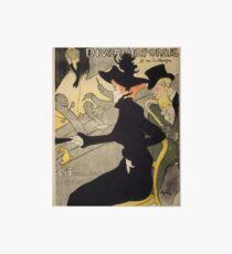 """Henri de Toulouse-Lautrec """"Divan Japonais"""" Art Board"""